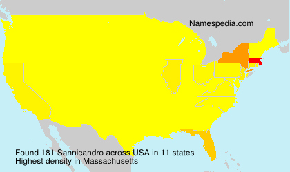 Surname Sannicandro in USA