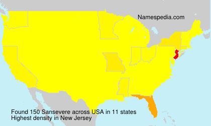 Surname Sansevere in USA