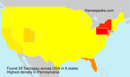 Surname Santapau in USA