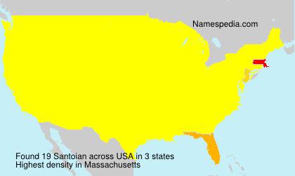 Surname Santoian in USA