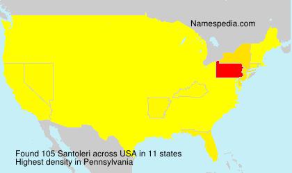 Surname Santoleri in USA