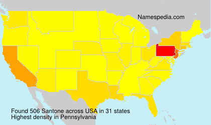 Surname Santone in USA
