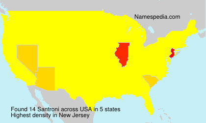 Surname Santroni in USA