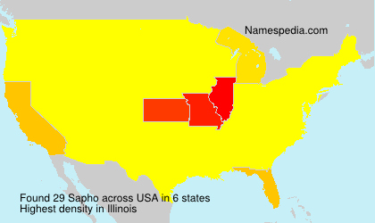 Familiennamen Sapho - USA