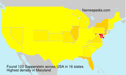 Surname Sapperstein in USA