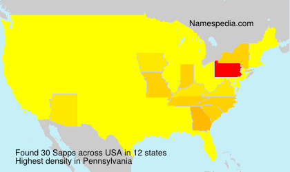 Surname Sapps in USA