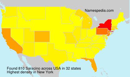 Familiennamen Saracino - USA