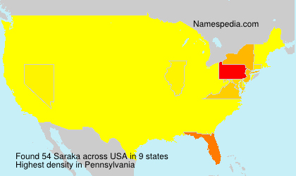 Surname Saraka in USA