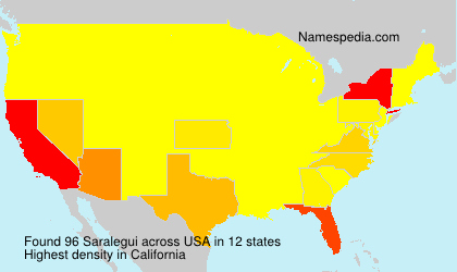 Surname Saralegui in USA