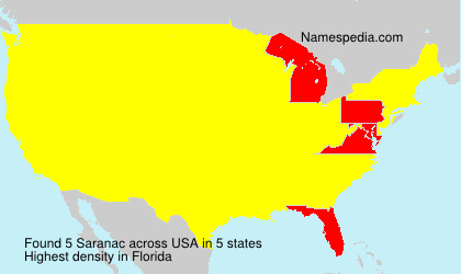 Surname Saranac in USA