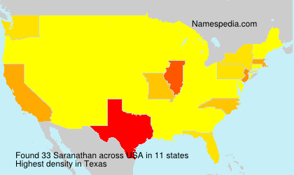 Surname Saranathan in USA
