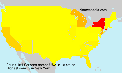 Surname Sarcona in USA