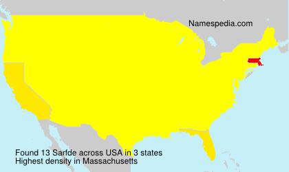 Familiennamen Sarfde - USA