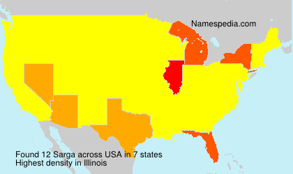 Surname Sarga in USA