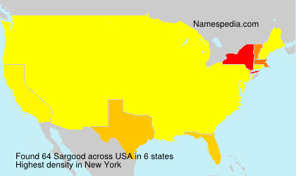Surname Sargood in USA