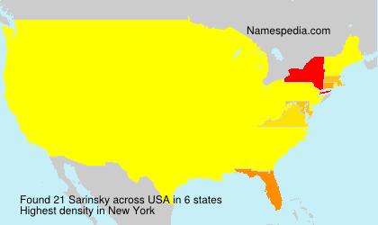 Surname Sarinsky in USA