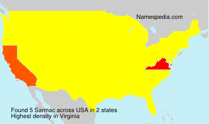 Surname Sarmac in USA