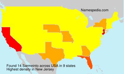 Surname Sarmeinto in USA