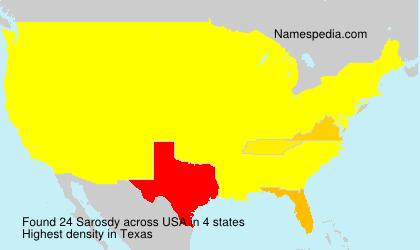 Surname Sarosdy in USA
