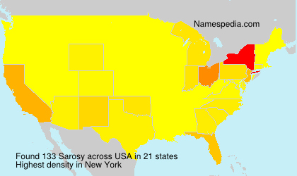Surname Sarosy in USA