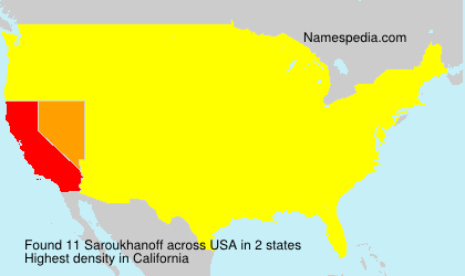 Familiennamen Saroukhanoff - USA