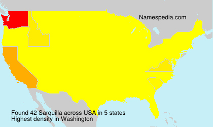 Surname Sarquilla in USA
