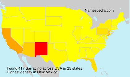 Surname Sarracino in USA