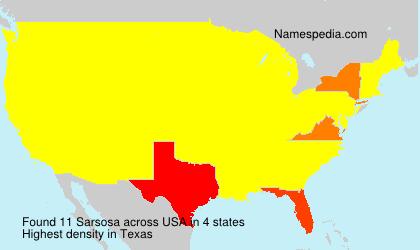 Surname Sarsosa in USA
