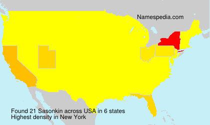 Surname Sasonkin in USA