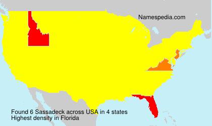 Surname Sassadeck in USA