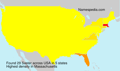 Surname Saster in USA