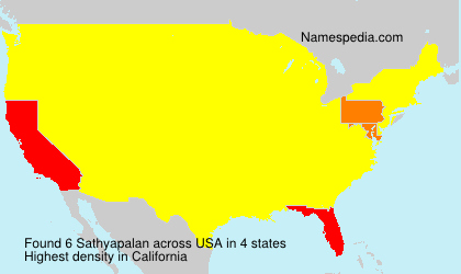 Surname Sathyapalan in USA