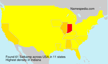 Surname Satkamp in USA