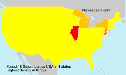 Familiennamen Satora - USA