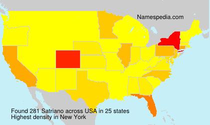 Surname Satriano in USA