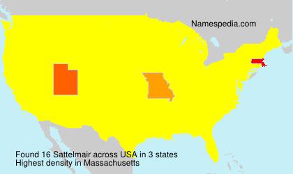 Familiennamen Sattelmair - USA