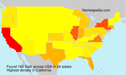Surname Satti in USA