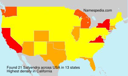Surname Satyendra in USA