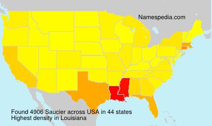 Familiennamen Saucier - USA