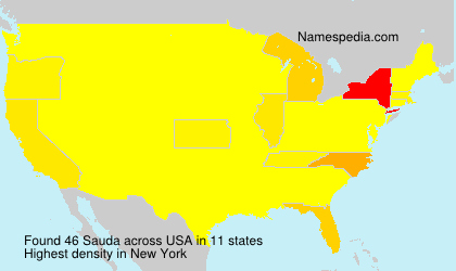 Surname Sauda in USA