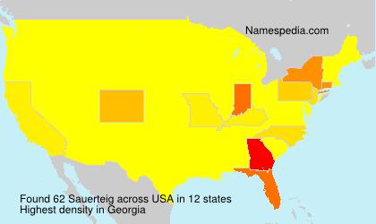Surname Sauerteig in USA