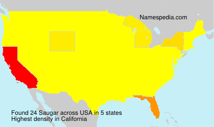 Surname Saugar in USA