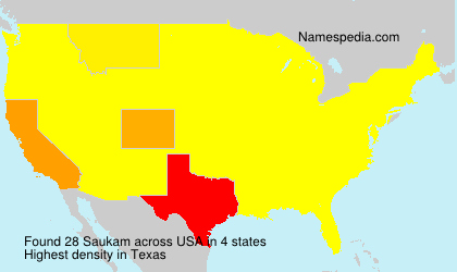 Surname Saukam in USA
