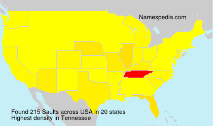 Surname Saults in USA