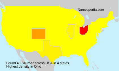 Surname Saurber in USA