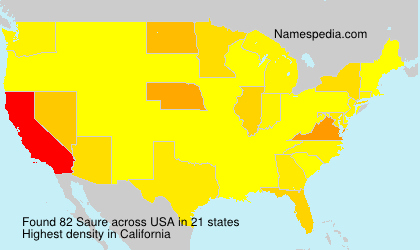 Surname Saure in USA