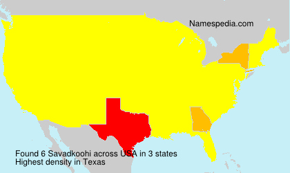 Surname Savadkoohi in USA