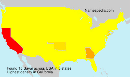 Surname Savai in USA