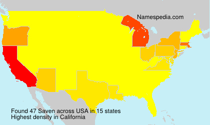 Surname Saven in USA