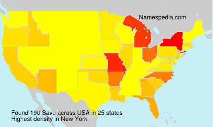 Surname Savu in USA